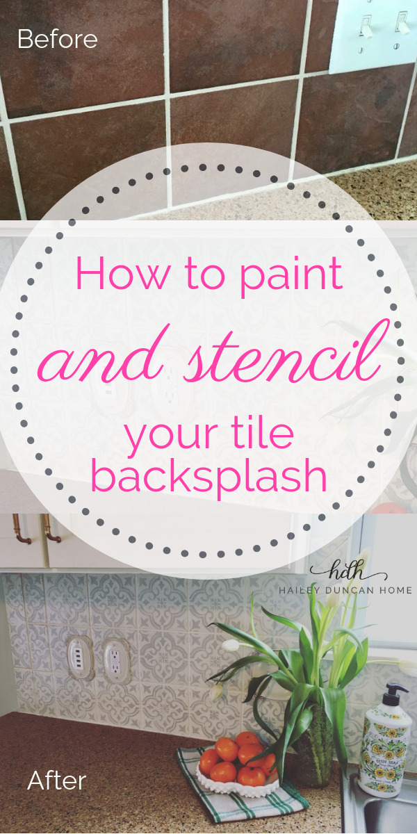 How to Paint and Stencil Your Tile Backsplash