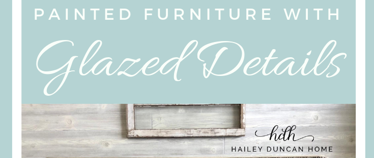 How to glaze furniture with details