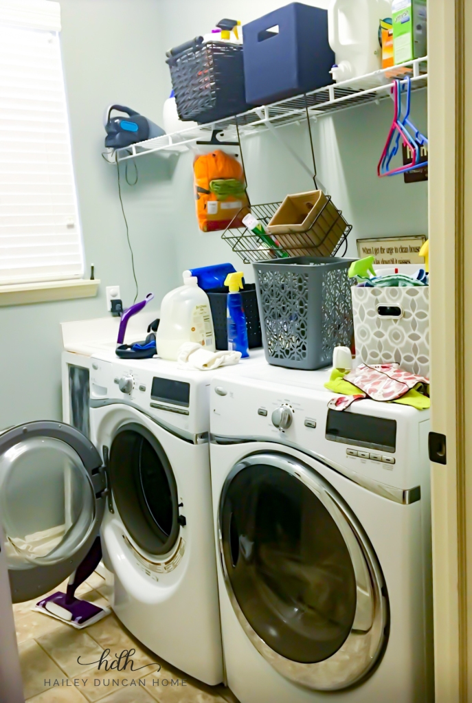 Laundry room picture before organization