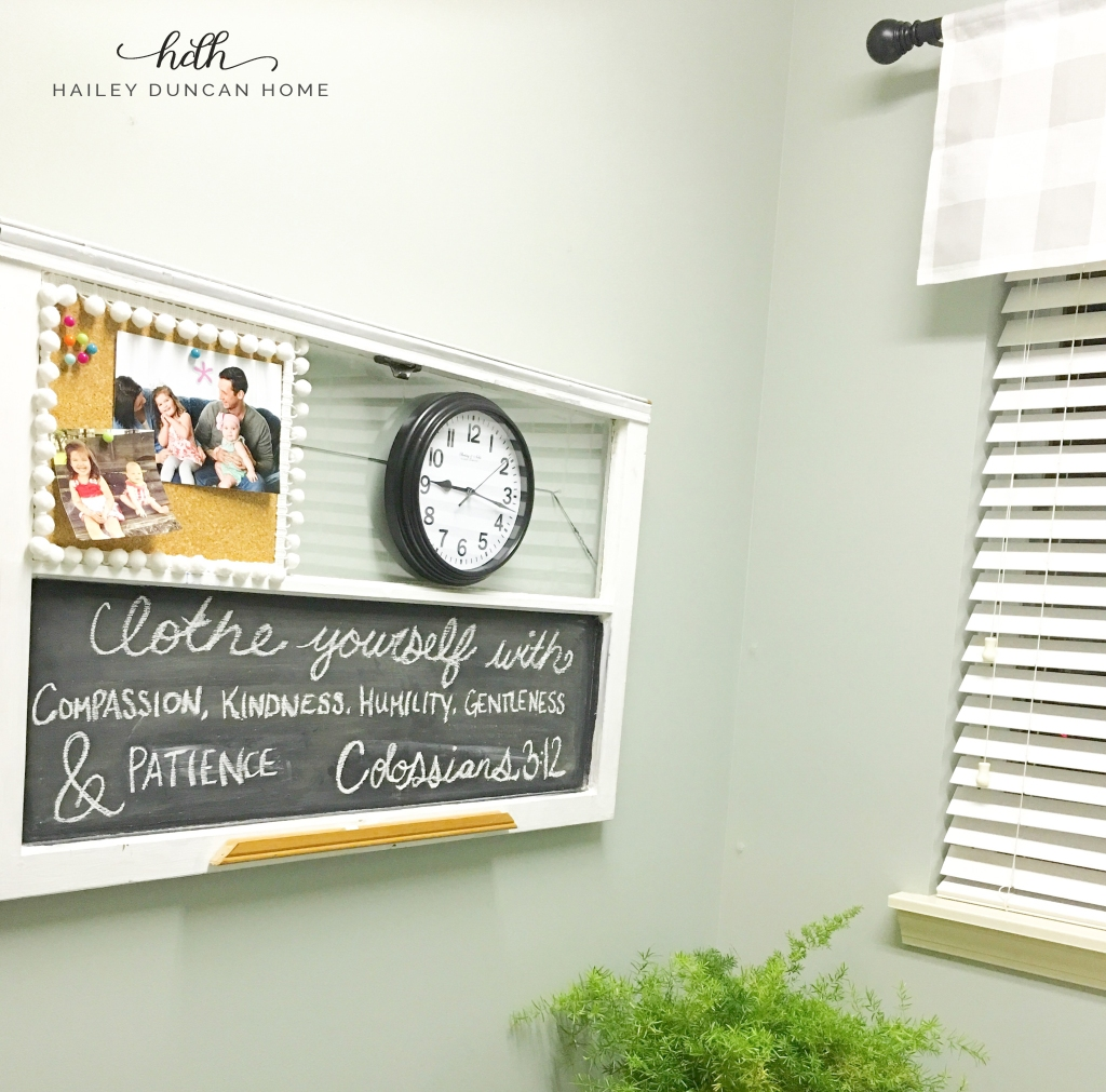 Cute sign in laundry room for laundry room organization project.