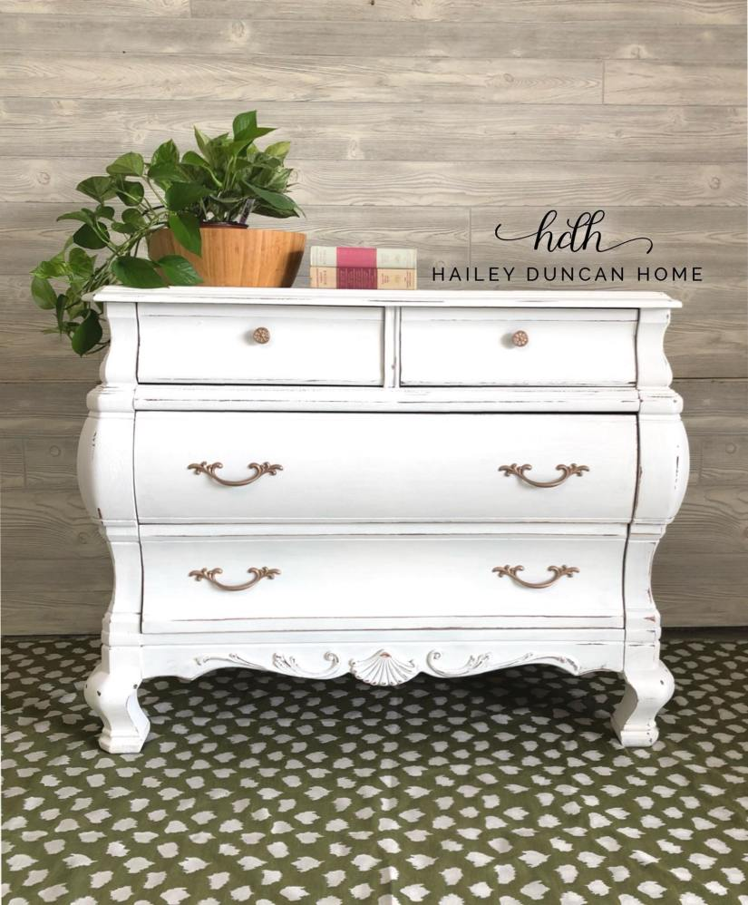 Small white painted buffet