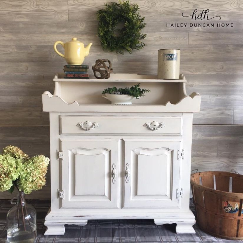 Cream painted small buffet